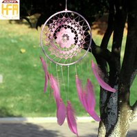 Wholesale Goose Decors - Wall Chimes Wall Art Decor Hangings Dream Catcher Goose Feather Floating Flowers Ornaments Creative Decoration Windbell Home Car Decoration