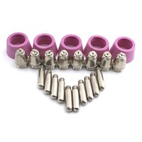 Wholesale Plasma Cutter Tips - 30PCS Air Plasma Cutter AG-60 Cutting torch gun Head Consumable For CUT40 50 60A Consumables Tips Electrodes