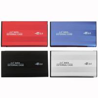 harici sata dizüstü bilgisayar toptan satış-USB 2.0 2.5 Inç SATA IDE Muhafaza Harici Kılıf Kutusu Mobil Disk Okuyucu HDD Dizüstü Dizüstü Sabit Disk Için alüminyum-magnezyum alaş ...