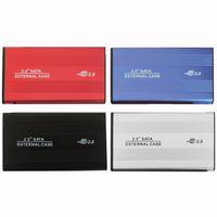 Wholesale hard alloy aluminum resale online - USB Inch SATA IDE Enclosure External Case Box Mobile Disk Reader For HDD Notebook Laptop Hard Disk aluminum magnesium alloy