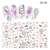 Wholesale Nail Art Bird Sticker - High Quality Hot Designs 3d Bird Tree branches Design Sticker Nail Art Sticker Nail Foils for DIY Manicure Decorations 30pcs lot
