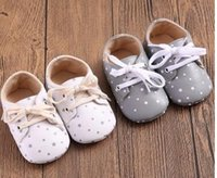Wholesale Baby Crib Shoe Sizes - New Classic Leisure PU Leather Newborn Baby Girl Boy Kids First Walkers Crib Infant Babe Star Pattern Handsome Retro Shoes Boots