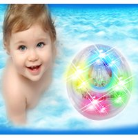 Wholesale Color Changing Baby Night Light - Free Shipping Color Changing Bathroom LED Light Kids Toys Waterproof baby bath toy lamps night bathtub tub light
