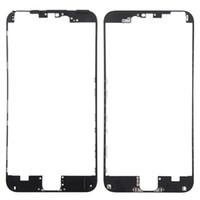 6d3117750fe 10pcs bisel frontal con pegamento caliente Marco medio para iPhone 6S 4.7 VS  6S Plus 5.5 pulgadas Negro blanco Piezas de repuesto