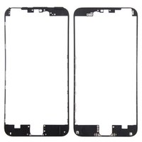 iphone bezel heißer kleber großhandel-10pcs Frontblende mit Heißkleber Mittlerer Rahmen für iPhone 6S 4.7 VS 6S Plus 5,5 Zoll Schwarz Weiß Ersatzteile