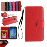 Wholesale Casing Galaxy Core - Litchi Leather Case for galaxy core prime G360 ACE4 J1 J5 J7 A3 A5 A7 2016 Wallet Case With Card Slot photo frame