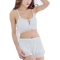 Wholesale Plus Size Bra Camisole - Wholesale-New Retro Style 2016 Summer Women's Sexy Lace Cross Strap Padded Bra Bustier Crop Tops Camisole Tank Top Plus Size Free Shipping