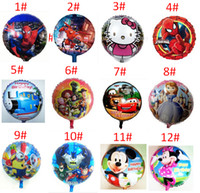 Wholesale Decorations For Birthdays - 45x45cm 18 Inch Cartoon Helium Foil Balloons Spider-Man Mickey toy Ballons For Kids Birthday Wedding Party Decoration