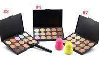 Wholesale Pro Tools Professional - Professional 15 Colors Concealer Foundation Contour Face Cream Makeup Palette Pro Tool for Salon Party Wedding Daily
