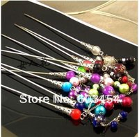 Wholesale12PCS main perle chinoise Cheveux Fermoir Hairpin