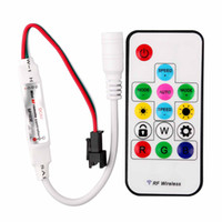 Wholesale digital pixel led strip - SP103E Mini Digital RGB LED Strip Controller with 14Key RF Wireless Remote 2048Pixels work with DC5V WS2801 Pixel Strip
