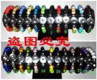 noosa perlen schnappen großhandel-20cm Disco Kristall Kugeln Noosa Trendy Snap Button Closer Snaps Armbänder 10mm Clay Kristall Perlen Bettelarmband 10pcs / lot