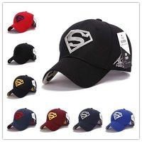 Wholesale Free Superman Movie - Fashion Unisex Caps Baseball Steampunk Movie Crochet Caps Snapbacks Superman Hats Summer Caps Hot Sale Brand New Free Shipping