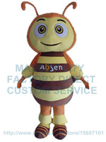 Wholesale Make Bee Costume - big eyes bee mascot costume custom cartoon character cosply adult size carnival costume 3101