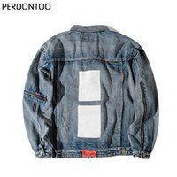 Wholesale China Breast - Wholesale- 424 Retro Destroyed washing with Zipper Denim Jacket To Do the old black blue Hiphop clothing Jean Men jackets China size M-2XL