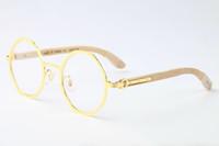 Wholesale wood legs sunglasses online - Famous Fashion Luxury Sun Glasses Eyeglass Full Alooy Frames Optical Sunglasses Wood Legs Frame Brand Designer Glasses With Case and Box