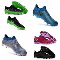 Wholesale Best Indoor Soccer Shoes - Soccer Boots Messi 16+ Pureagility FG AG Football Boots New Mens Soccer Cleats For Men Best Quality Soccer Shoes 2016 Football Shoes Cleats