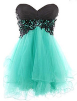 Wholesale Homecoming Coctail Dresses - Sweetheart Appliques Cocktail Dresses 2016 Women Cheap Sexy Short Coctail Dress tulle material A Line homecoming dress Z60