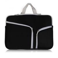 handtasche für macbook großhandel-Laptop Schutz Reißverschlusstasche Handtasche Für Macbook 12 13 15 Zoll Lagerung Tragetaschen Reisetasche Universal-Beispielauftrag