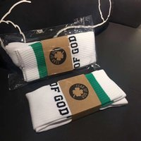 Discount fashion collection men - FEAR OF GOD 1987 Celts Collection Men Sock Italian Pop-up Store Cotton Green Striped Male In Tube Socks Fear Of God FOG
