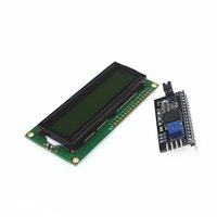 Wholesale I2c Interface Module - Wholesale-Free shipping 1pcs 1602 16x2 HD44780 Character LCD Green+ 1pcs IIC I2C 1602 Serial Interface Adapter Module