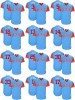 Wholesale Andrus Jersey - 2017 Little League World Series Players Weekend Men Lady Kid Rangers Elvis Andrus Joey Gallo Martin Perez Mike Napoli Blue Baseball Jerseys