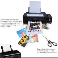 Wholesale Wholesale Magnet Paper - Magnetic printing paper A4 size 5pcs per lot,ink magnetic print paper,die cut DIY fridge magnet,magnet paper