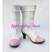 Wholesale Macross Frontier Anime - Wholesale-Macross Frontier custom-made anime Cosmic cuune Sheryl Nome Rubber soles cosplay shoes boots #GAI098
