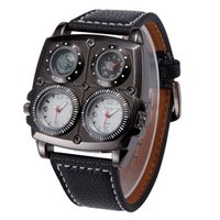Wholesale Oulm Compass - Branded watches oulm 1140 Japan Quartz movement compass thermometer decorate Military Army Sport WristWatch mens cheap watches online