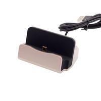 mikro usb beşiği toptan satış-Mikro USB 2.0 Şarj Dock Sync Data Cradle Station Tutucu Şarj Samsung HTC Blackberry LG 20 adet / up
