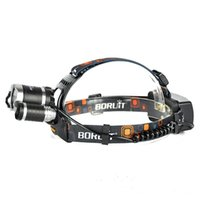 Wholesale Cree Led Retail - +retail box 6000Lm CREE XML T6+2R5 LED Headlight Headlamp Head Lamp Light 4-mode torch +EU US wall charger for fishing Lights