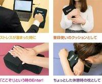juguetes de espuma de estrés al por mayor-Juguete de descompresión de la novedad USB Big Enter Key Foam Office Nap Pillow Anti Stress Adult Tool Gift Novedad Gift Desktop Pillow Computer Laptop