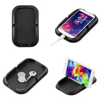 araba paspasları toptan satış-Siyah Araba Dashboard Yapışkan Ped Mat Anti Kaymaz Gadget Cep Telefonu GPS Tutucu Standı İç Öğeleri Aksesuarları Sıcak