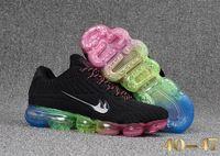 Wholesale Rainbow Choice - Various Choices Multi Color Men Maxes 2018 Tennis sneaker KPU Rainbow Sports and casual shoes Vapor MaXES trainer size 40-47