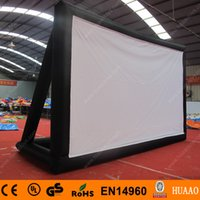 outdoor inflatable projection screen - m outdoor movie rear projection inflatable screen with free CE blower