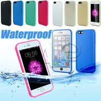 Wholesale shock proof cases - Waterproof TPU water Case For Iphone 7 6s plus Samsung Galaxy S7 Rubber Case Full Boday Cover Shock-proof Dust-proof Underwater Diving Cases