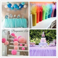 Wholesale Gold Organza Table Runners - 22mX15cm Colorful Tissue Tulle Roll Spool Craft Wedding Party Decoration Organza Sheer Gauze Table Runner Top quality