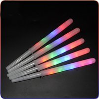 Wholesale Toys Candy Novelties Wholesale - 28*1.75CM New Kid Favor Colorful LED flashing cotton candy stick,light up novelty glow party cheering stick for concert bar OTH623