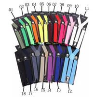 Wholesale Y Clip Suspender Belt - 3000pcs High Quality Candy Color Unisex Adjustable Pants Y-back Suspender Brace Elastic Clip-on Belt Adjustable Braces Suspenders Free Ship