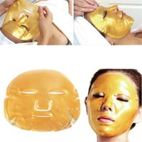 Wholesale Whitening Moisturizing Facial Mask - DHL Delivery 500pcs lot Top Selling Gold Bio-Collagen Facial Mask Face Mask Crystal Gold Powder Collagen Facial Mask Moisturizing Anti-aging