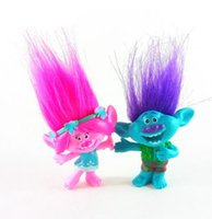 Wholesale frozen freeze dolls resale online - 2pcs Trolls figures poppy Branch action figure toy set Movie Trolls figurine bobby doll birthday party oyuncak gift
