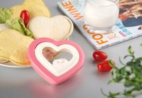 Wholesale Craft Sandwich Plastic Mold Cutter - New Arrival Heart Shape Toast Mould Sandwich Mold Cutter Bread Cake Mold Maker DIY Mold Cutter Craft 123*115*33mm free shipping HY899