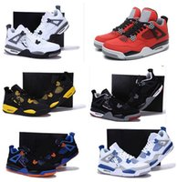 Wholesale Cheapest Low Cut Basketball Shoes - 2016 New Mens Retro 4 Basketball Shoes Sneakers Cheap Retro IV Sporting Training Shoes Trainers Sneakers Size 41-47