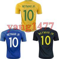 f890445f4dd TOP quality Brazil jersey 2016-17 Soccer jersey Camisa de futebol Brasil  Neymar Oscar home away jersey Adult football Shirt men Fast deliver ...