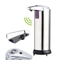 dispensador de sabão automático com sensor de infravermelhos venda por atacado-400 ml Dispensador de Sabão Líquido Automático Infrared Sensor Inteligente Touchless Sanitizer Dispenser para Cozinha Casa de Banho