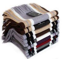 Wholesale Cheap Pashmina Scarves Shawls - mens cheap scarf striped men shawls scarves fashion designer wrap men business scarf oversized cashmere pashmina scarfs