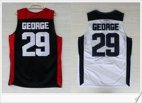 Wholesale usa vintage - USA team 10th #29 Paul George Retro College Stitched Embroidery Vintage Sports basketball Uniforms Shirts Vest Mens Team Pro Jerseys On Sale