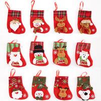 Wholesale Wholesale Boutique Socks - Christmas Socks Gift bag Small Boutique Candy Gift Bag Christmas Snowman Santa Claus Socks Pendant 001