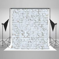 Wholesale White Photo Cloth - 5x6.5ft Thick Cloth Background White Brick Wall Backgrounds for Photographer Adults-only Digitally Printed Backdrops for a Photo Shoot 00021