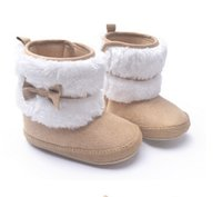ingrosso scarponi da bambino-New Fashion Super Warm Inverno Stivali da neve alla caviglia per bambini Scarpe per bambini Cachi Antiscivolo Mantieni calde le scarpe per bambini First Walkers 2pair